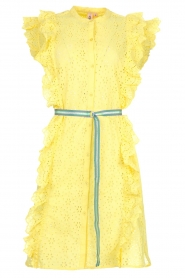 Becksöndergaard |  Dress with ruffles Haley | yellow  | Picture 1