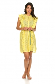 Becksöndergaard |  Dress with ruffles Haley | yellow  | Picture 4