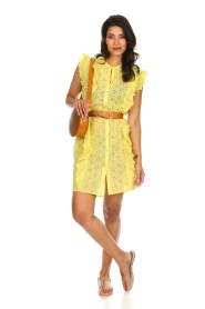 Becksöndergaard |  Dress with ruffles Haley | yellow  | Picture 3