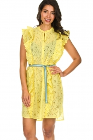 Becksöndergaard |  Dress with ruffles Haley | yellow  | Picture 2