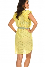 Becksöndergaard |  Dress with ruffles Haley | yellow  | Picture 6
