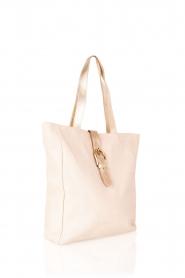 Leather shoulder bag Eden | nude