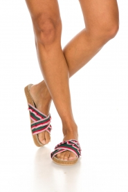 Becksöndergaard |  Printed leather sandals Gary | pink  | Picture 3