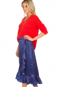 Becksöndergaard |  Midi skirt with polkadot pattern Calista Lena | blue  | Picture 5