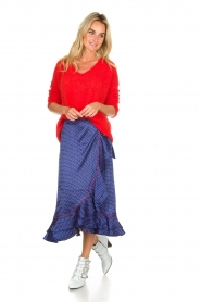Becksöndergaard |  Midi skirt with polkadot pattern Calista Lena | blue  | Picture 2