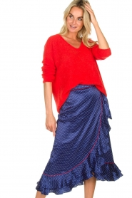 Becksöndergaard |  Midi skirt with polkadot pattern Calista Lena | blue  | Picture 3
