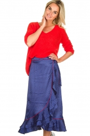 Becksöndergaard |  Midi skirt with polkadot pattern Calista Lena | blue  | Picture 4