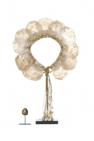 Little Soho Living |  Shell necklace on a stand Skye | white  | Picture 3
