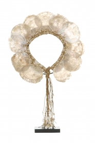 Little Soho Living |  Shell necklace on a stand Skye | white  | Picture 1