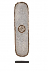 Little Soho Living |  Beaded shield on a stand Skyler | white  | Picture 1