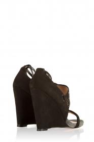 Hoss Intropia | Suède sleehakken Brigitte | Zwart  | Afbeelding 4