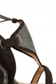 Hoss Intropia | Suède sleehakken Brigitte | Zwart  | Afbeelding 5