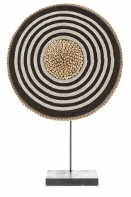 Little Soho Living |  Shield with beads and shells Camdon - extra large | black & whi  | Picture 1
