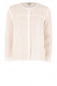 Hoss Intropia | Linnen blouse Olivia | wit  | Afbeelding 1