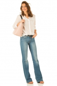 Hoss Intropia | Linnen blouse Olivia | wit  | Afbeelding 3