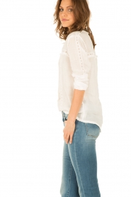 Hoss Intropia | Linnen blouse Olivia | wit  | Afbeelding 4