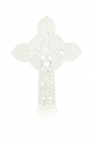 Little Soho Living |  Wooden cross Zion | white  | Picture 1