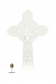 Little Soho Living |  Wooden cross Zion | white  | Picture 3