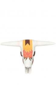 Little Soho Living |  Hand-painted wooden buffalo mask Jake | white   | Picture 1