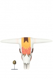 Little Soho Living |  Hand-painted wooden buffalo mask Jake | white   | Picture 3