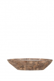 Little Soho Living |  Wooden float candle with 3 fuses Ray | brown  | Picture 1