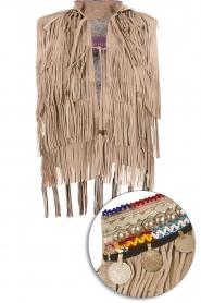 Suede waistcoat Maya | grijs