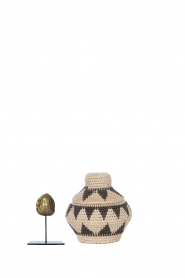 Little Soho Living |  Printed rattan basket Pippa - extra small | black & white  | Picture 4