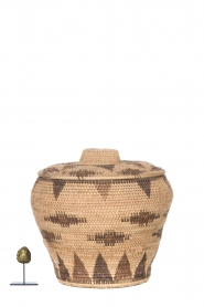 Little Soho Living |  Printed rattan basket Amy - medium | camel  | Picture 3