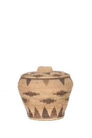 Little Soho Living |  Printed rattan basket Amy - medium | camel  | Picture 1