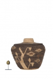 Little Soho Living |  Printed rattan basket Hazel - medium | brown  | Picture 3