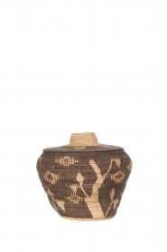 Little Soho Living |  Printed rattan basket Hazel - medium | brown  | Picture 1