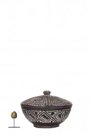 Little Soho Living |  Hand carved wooden pot Ashton | black  | Picture 5