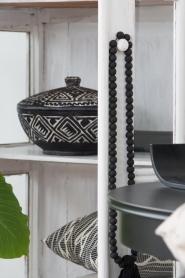 Little Soho Living |  Hand carved wooden pot Ashton | black  | Picture 2