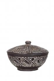 Little Soho Living |  Hand carved wooden pot Ashton | black  | Picture 1