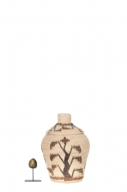 Little Soho Living |  Printed rattan basket Lucy - small | natural  | Picture 3