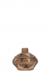 Little Soho Living |  Printed rattan basket Hayley - small | brown  | Picture 1