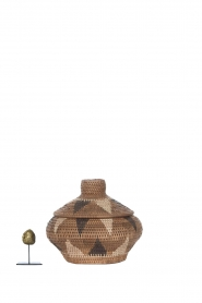 Little Soho Living |  Printed rattan basket Hayley - small | brown  | Picture 3