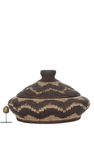 Little Soho Living |  Zigzag printed rattan basket June - low | brown  | Picture 3