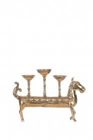 Little Soho Living |  Horse candle holder Shay - 3 candles | gold  | Picture 3