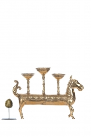Little Soho Living |  Horse candle holder Shay - 3 candles | gold  | Picture 4