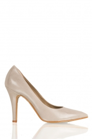 Leren pumps Nicole | cement