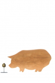 Little Soho Living |  Wooden cutting board Pig | brown  | Picture 3