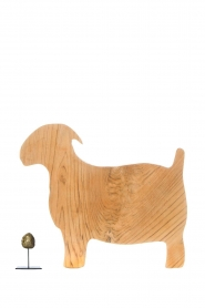 Little Soho Living |  Wooden cutting board Goat | brown  | Picture 3