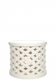 Little Soho Living |  Side table Reese - low |  white  | Picture 2