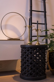 Little Soho Living |  Side table Scott - tall | black  | Picture 2