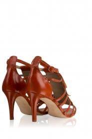 Noe | Leren fringe sandalen Numa | bruin  | Afbeelding 4