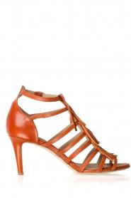 Noe | Leren fringe sandalen Numa | bruin  | Afbeelding 1