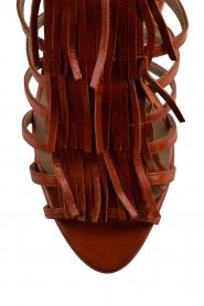 Noe | Leren fringe sandalen Numa | bruin  | Afbeelding 5