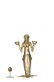 Little Soho Living |  Mermaid candle holder | gold  | Picture 3