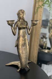 Little Soho Living |  Mermaid candle holder | gold  | Picture 2